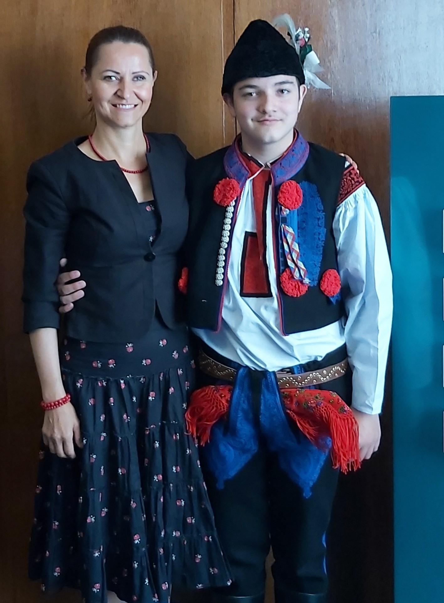 Král Daniel Kozelek s maminkou